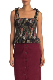 Rebecca Minkoff Dolly Smocked Peplum Top