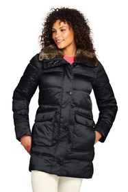 Lands End Women's Plus Size Insulated Winter Puffe