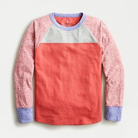 J. Crew Kids' long-sleeve T-shirt in colorblock