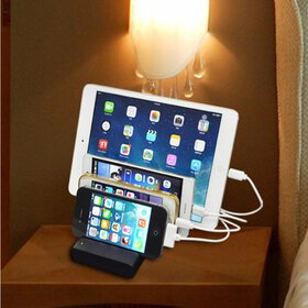 4-Port Multi USB Charging Stand Organizer Desktop
