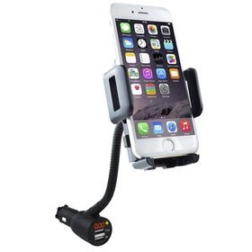 Car Phone Mount, SOAIY Gooseneck Car Charger Holde