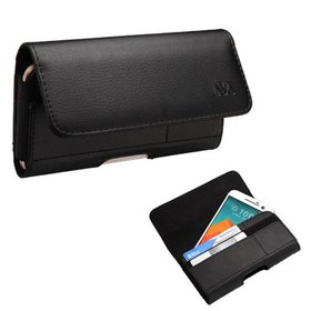 Insten Black Horizontal Leather Wallet Phone Case