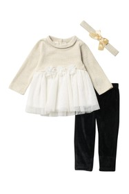 Nicole Miller Knit Tulle Top