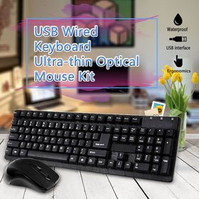 USB Wired 2.4G 1000 DPI Keyboard Ultra-thin Optica