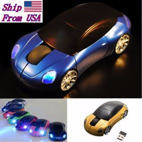 Black 2.4GHz Car Shape1600DPI Wireless Optical Mou