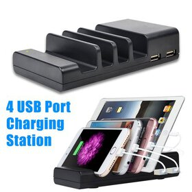4-Port Multi USB Charging Station Stand Desktop Ch