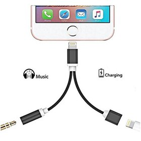 2 in 1 Lightning for iPhone 7 Adapter,CACO MALL ip