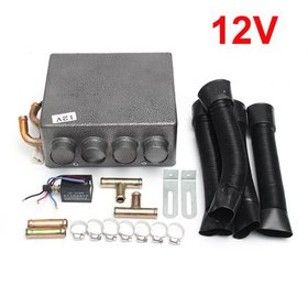 12V 4 Ports Car Truck Under Dash Heater Copper War