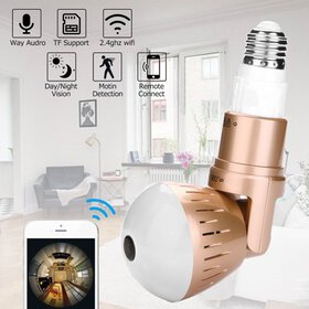 Light Bulb Security Camera IP Wireless WiFi Camera