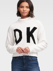 Donna Karan FRONT-BACK LOGO SWEATER