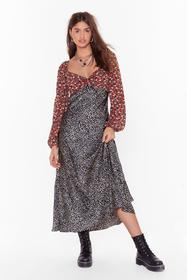 Nasty Gal Black Mix Us a Drink Floral Leopard Maxi