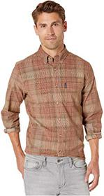 Ben Sherman Long Sleeve Tonal Cord Plaid Shirt