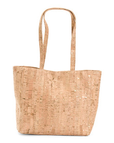 D'MARGEAUX Cork Tote With Pouch
