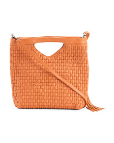 KOOBA Yaimara Large Woven Leather Crossbody