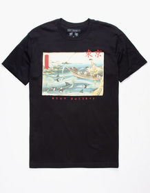 RIOT SOCIETY Shark Reaper Mens T-Shirt_