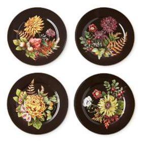 Harvest Bloom Salad Plates, Set of 4, Mixed