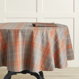 Plymouth Plaid Round Tablecloth