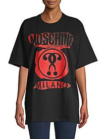 Moschino Watercolor Cotton Tee BLACK RED