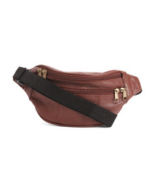 AMERILEATHER Leather Top Grain Belt Bag