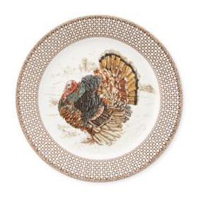 Plymouth Gate Dinner Plates, Set of 4, Turkey