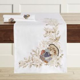 Plymouth Bird Embroidered Table Runner