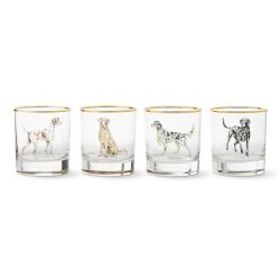 Plymouth Dog Double Old-Fashioned Glasses, Set of