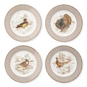 Plymouth Gate Salad Plates, Set of 4, Mixed