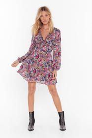Nasty Gal Mauve Rose For Pictures Floral Mini Dres