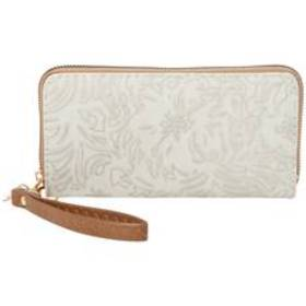 Womens Sasha Embossing Zip Around Wristlet