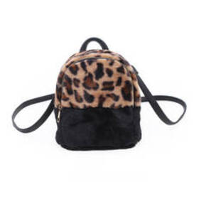 Chateau Faux Fur Leopard Mini Backpack