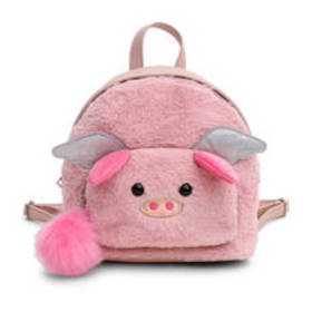 Chateau Faux Fur Pig Face Backpack