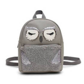 Chateau Owl Face Appliqué Backpack
