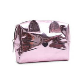 Chateau Cat Critter Hologram Cosmetic Bag