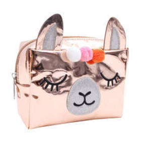 Chateau Llama Critter Hologram Cosmetic Bag