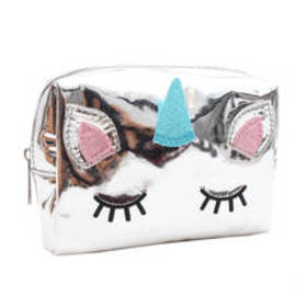 Chateau Unicorn Critter Hologram Cosmetic Bag