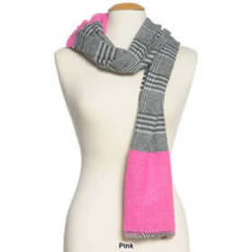 Womens Steve Madden Color Block Plaid Scarf