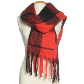 Womens Steve Madden Buffalo Plaid Muffler with Poc