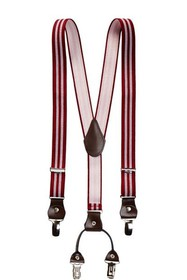 Isaac Mizrahi Striped Suspenders