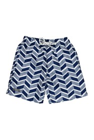Toobydoo Geometric Print Swim Trunks (Toddler