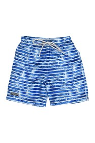 Toobydoo Stripe Print Swim Trunks (Toddler