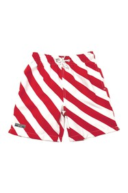Toobydoo Stripe Print Short Fit Swim Trunks (Toddl