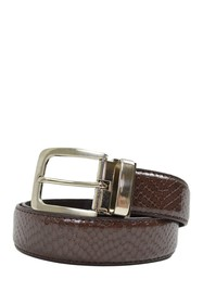 Isaac Mizrahi Snake Embossed Faux Leather Belt