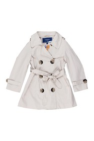 Toobydoo Double Breasted Coat (Toddler & Little Gi