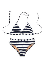 Toobydoo Stripe Print Bikini (Toddler & Little Gir