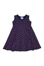 Toobydoo Flamingo Print Dress (Toddler & Little Gi