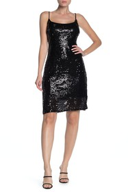 bebe Sequin Midi Slip Dress
