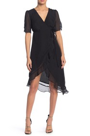 4SI3NNA Valerie Ruffle Hem Wrap Dress