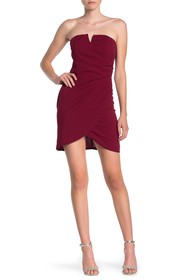 MAX & ASH Strapless Ruched Dress