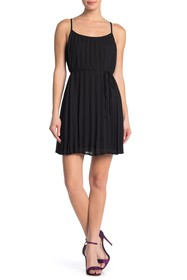 KENEDIK Pleated Crepe Mini Dress