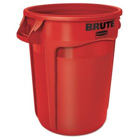 Rubbermaid Commercial Round Brute Container, Plast